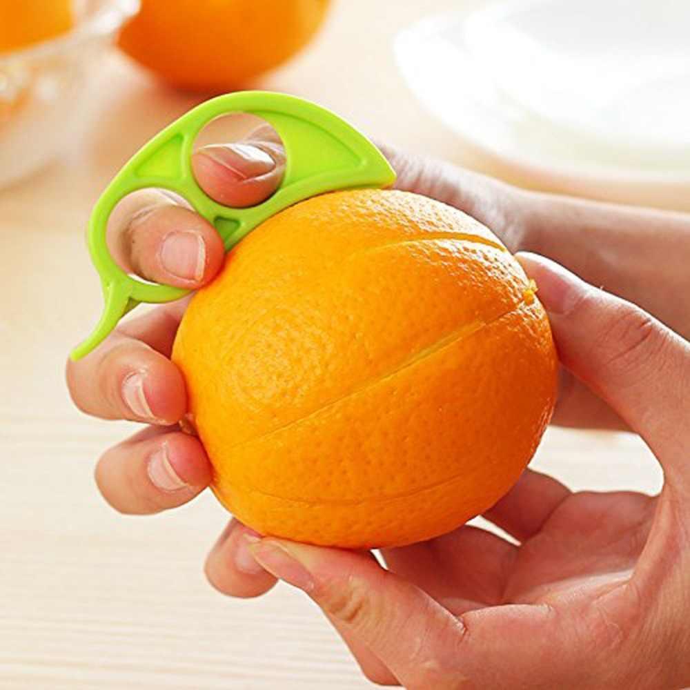 1 sztuk z tworzywa sztucznego pomarańczowy obieraczki Zesters cytrynowy wyciskacz owocowe krajalnica owoców cytrusowych szybkie nóż do otwierania gadżety kuchenne