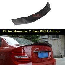 For Mercedes W204 4-door Sedan Spoiler R Style C Class W204 C180 C200 C250 C260 Carbon Fiber Rear Spoilers Trunk Wing 2007-2014 amg style for mercedes w204 amg carbon fiber spoiler 2008 2010 2011 2012 2013 2014 c class w204 carbon spoiler 4 door sedan