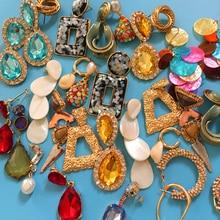 Ztech Metal Crystal Drop Earrings For Women Girl Summer Geometric Shell Big Statement Earring 2019 Wedding Bridal Party Jewelry