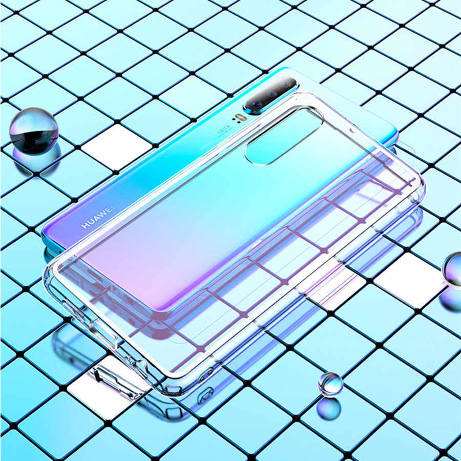 Soft Clear TPU Back Cover for Samsung Galaxy A7 2018 A90 A80 A70 A60 A50 A40 A30 A20 A10 M30 M20 Transparent TPU Phone Case