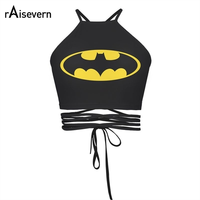 2017 Vintage Batman Crop Top