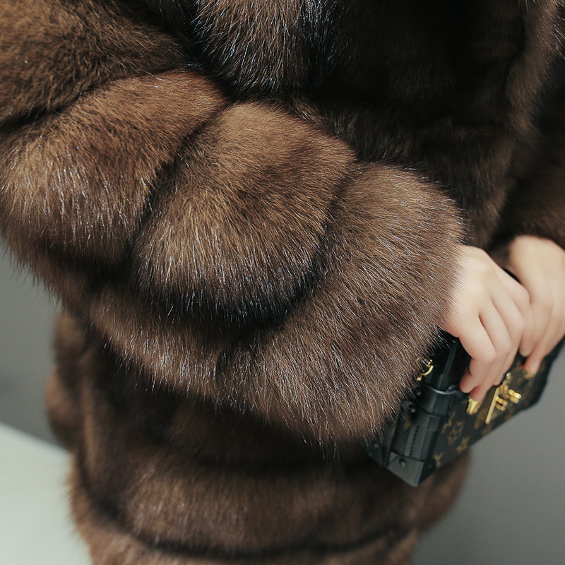 New Sable Long Luxe Manteau High Russie Martre Moyen De Naturel Élégant Vison End Femmes Phoenix Fourrure 0818l Qualité Top Veste 1pCwT