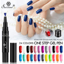 1817a60590 Saviland 3 In 1 Glitter Nail Gel Varnish Pencil One Step UV Gel Lacquer Pen  No
