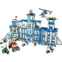 1397pcs Large Building Blocks Sets City Police Station Anti Terrorism Action Compatible Legoinglys City Police Toys