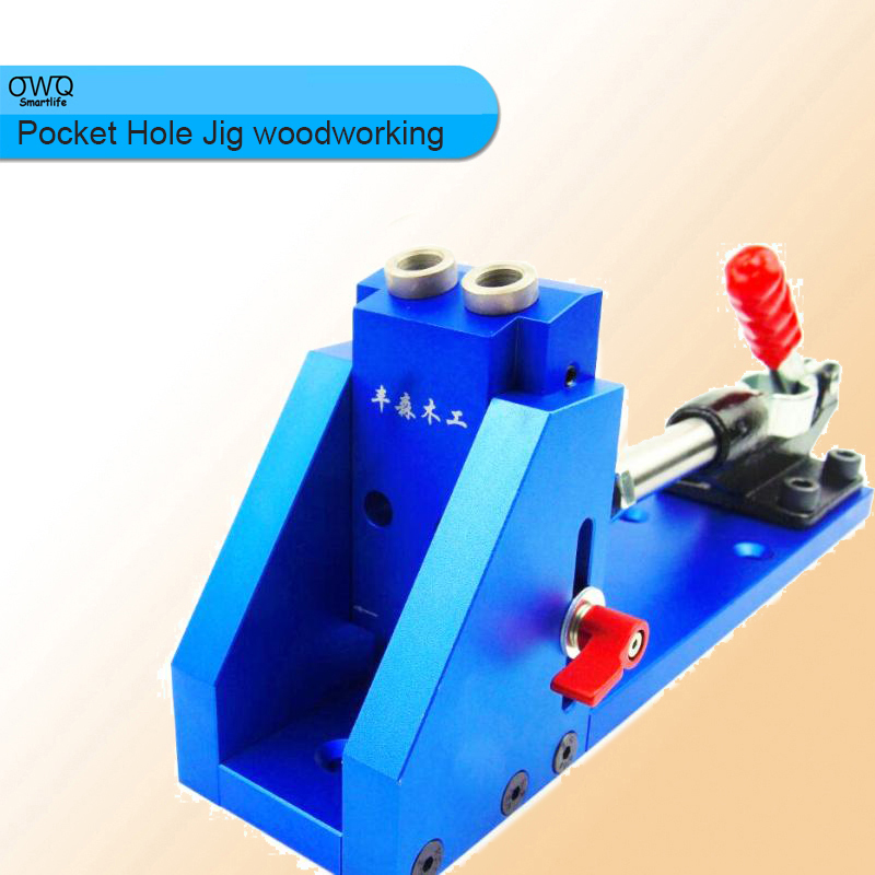 Pocket Hole Jig woodworking Repair Kit Carpenter System Guide With Toggle Clamp 9.5mm and 3/8 inch Step Drill Bit woodworking tool pocket hole jig woodwork guide repair carpenter kit system with toggle clamp and step drilling bit k527