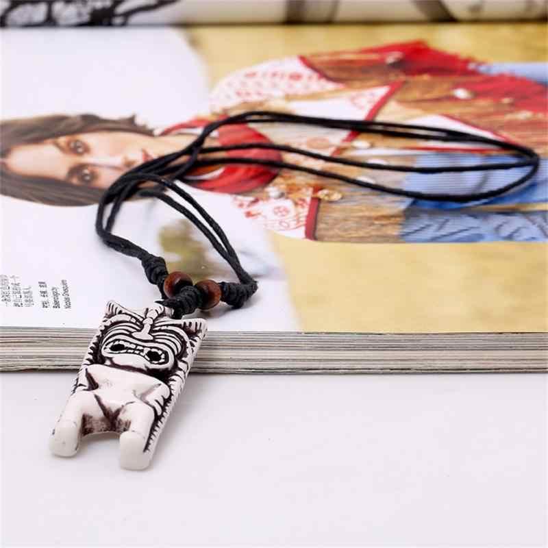 Модное ожерелье унисекс с шнуром, регулируемое черное винтажное ожерелье с подвеской из смолы, длинное ожерелье, ювелирные изделия для мужчин и девочек, аксессуары, подарки