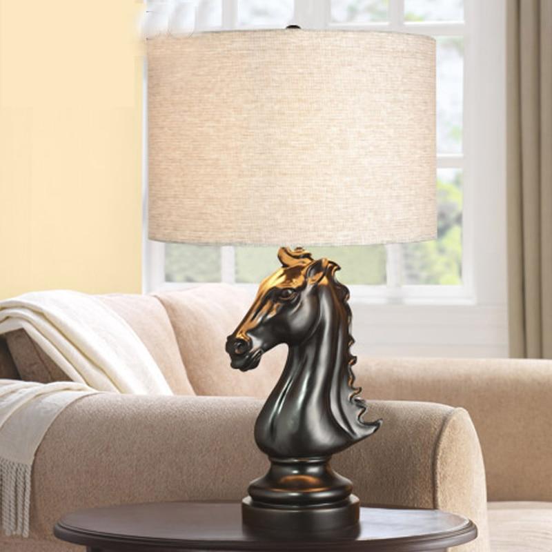 Lampe art déco moderne lampe de table salon tissu abat jour lampe