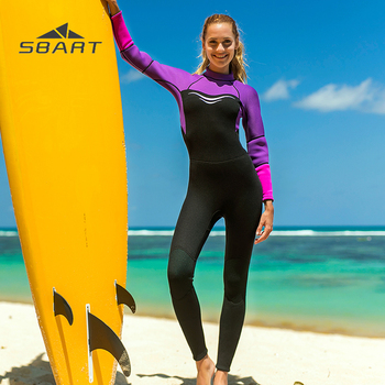 SBART 3mm Neoprene Nylon Wetsuit for Women Girls One Piece Full body Diving Suit thermal Diving Snorkeling Surfing Swimsuit