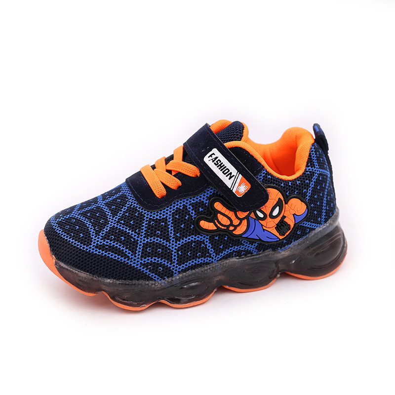 lighted boys girls kids shoes  luminous glowing led children baby sneakers mesh sport size 21-36