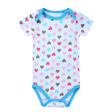 Baby Clothing! 2016 Summer Sleepwear Baby Girl Newborn Clothes Romper Short Sleeve Infant product , Baby Rompers Print Girl