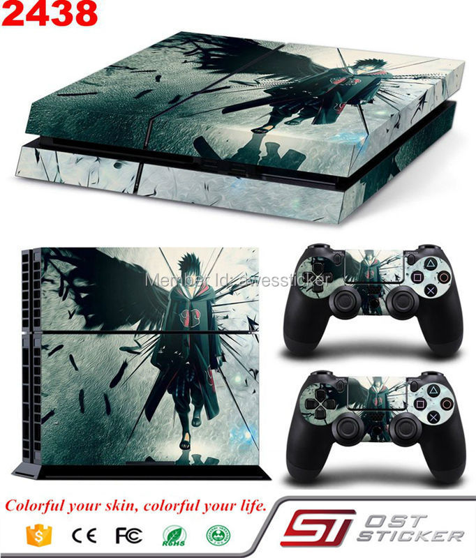 Butterfly Man Skin Sticker For PS4 Vinyl Sticker for PlayStation 4 Games Console and 2 pcs