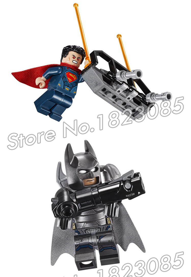 106pcs Super Heroes Batman Superman Movie Clash of the Heroes Armored 07017 Model Building Blocks Toy Brick Compatible with Lego