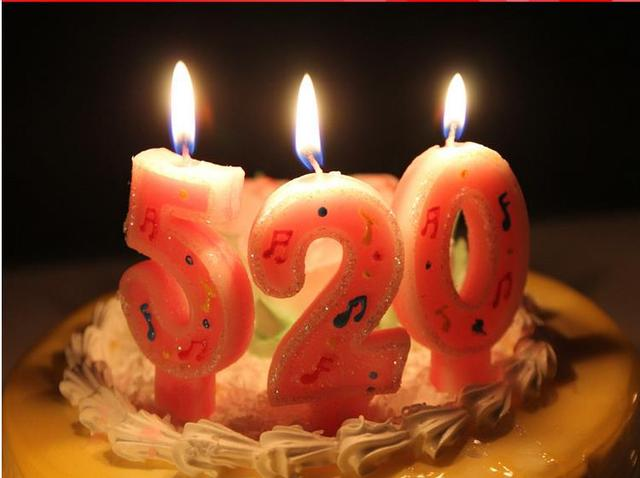 2016 Note Large Numbers 0 9 Cartoon Happy Birthday Candles Colorful Cake Toppers Creative Decoration
