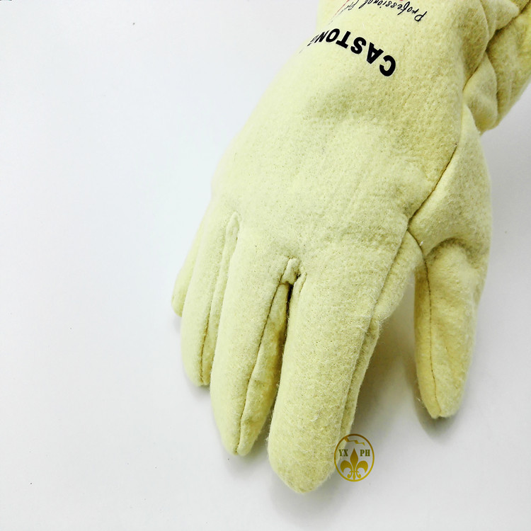 ФОТО Fireproof glovesNFRR 500 degrees high temperature resistant gloves aluminum foil heat insulation anti-scald cutting safety glove