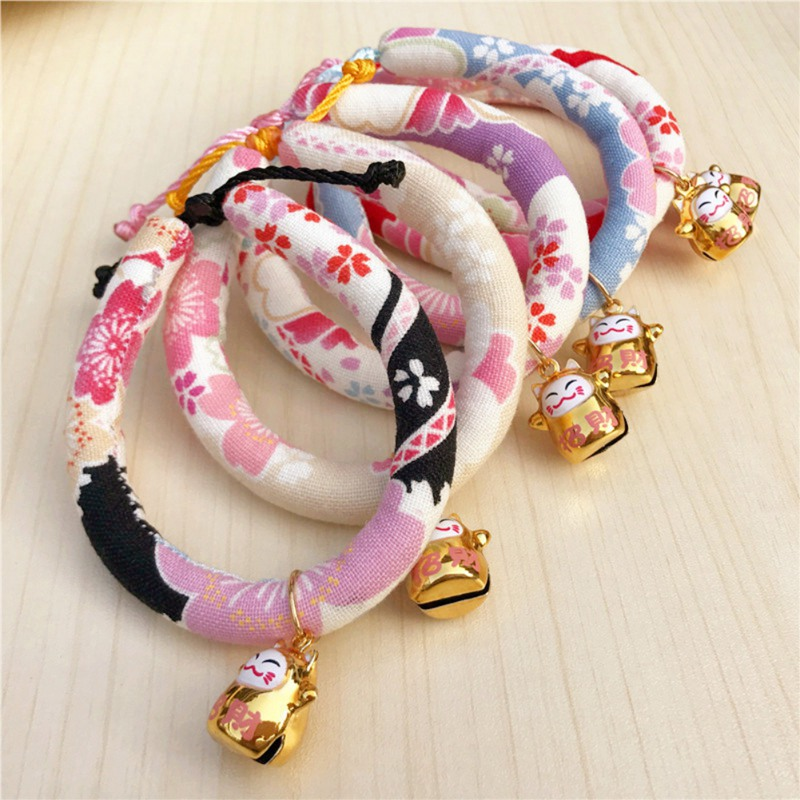 Handmade Adjustable Dog Cat Collar Printed Necktie Necklace With Bell For Pets Puppy Kitten 2018 Hot Sale