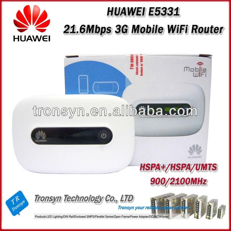 Déverrouillage d'origine en gros HSPA + 21.6 Mbps HUAWEI E5331 3G routeur WiFi Mobile intégré HSPA +/HSPA/UMTS 2100/900 MHz