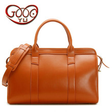 New solid color men's luggage bag horizontal square handbag diagonal package large capacity leather male bag travel travel bag