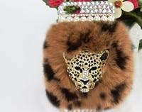 Najnowszy dla apple iphone 6 case luksusowe marki projektowanie mody diament rex królik futra lisa telefon torba case dla apple iphone7 7 Plus