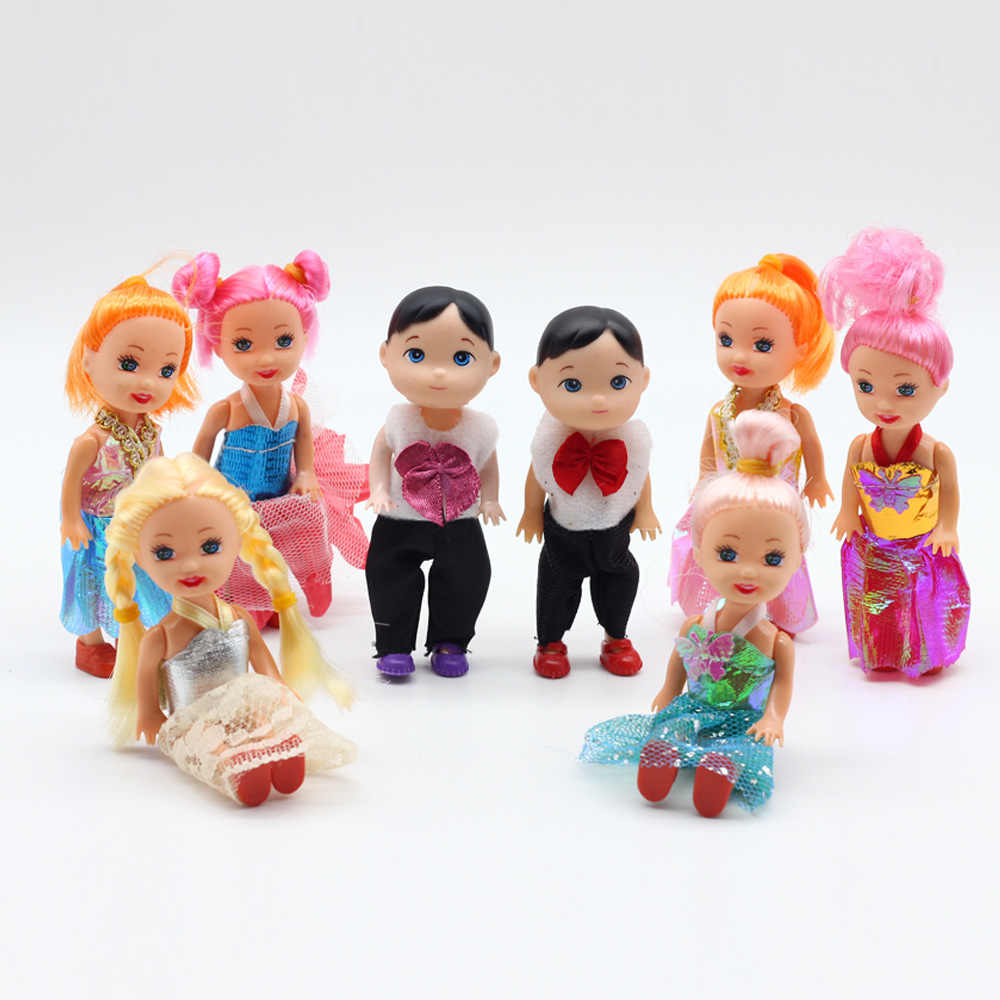10cm small dolls toys little girl little boy doll mini cute baby Kelly princess prince doll kids toy gifts for girls