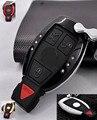 Дистанционного Замена Ключа Чехол Обложка Держатель С Брелок с логотипом для Benz ML SL CL CLA AMG C белый черный золото красный