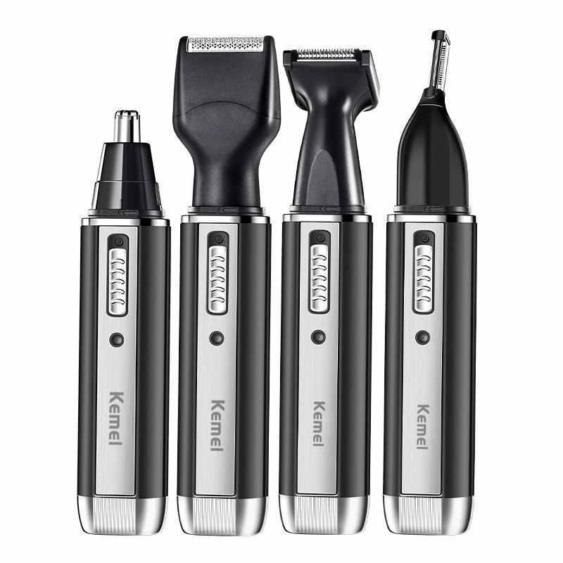 4in1 şarj edilebilir burun düzeltici sakal düzeltici erkekler için kulak kaş burun saç düzeltici burun ve kulak saç temizleme temizleme makinesi