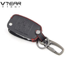 Vtear For Kia Rio 4 X-Line key case car styling folding smart key cover Interior Accessories decoration car-covers Accessories(China)