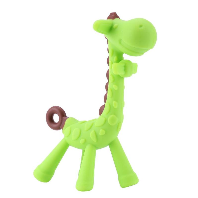 Cartoon Giraffe Shape Baby Teether Toys Silicone BPA Free Necklace Teething Training Pacifier Chew Oral Tool Baby Care Toy Tool