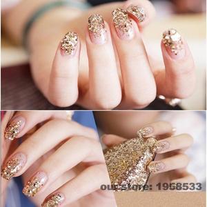 Image 5 - Hightlight Silver Color 0.2mm Powder Dust Acrylic Nails Art Glitter Tips Deco Gel UV Polish Nail Body Crafts Decoration N48