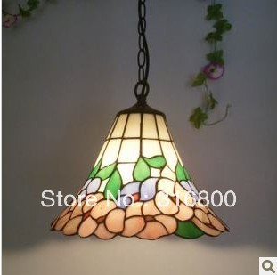 12 inch Tiffany the flower chandelier Kitchen Restaurant stained glass lamps American rural countryside Lighting