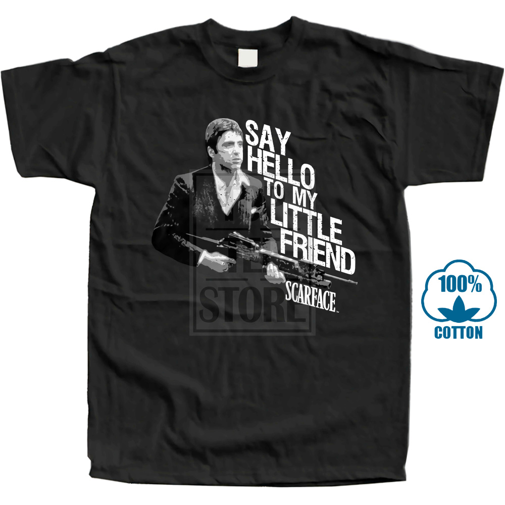 cefbc9a8 Scarface Say Hello To My Little Friend # 2 Licensed Adult T Shirt Classic  Movie
