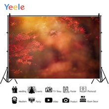 Yeele Maple leaves Red Bokeh Forest Professional Photography Backdrops Portrait Photographic Backgrounds For The Photos Studio