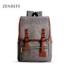 ZENBEFE 2014-qualitäts-frauen Rucksäcke Qualität Leinen Schultaschen Freizeit College Laptop Rucksack Frauen Reisetasche Rucksack