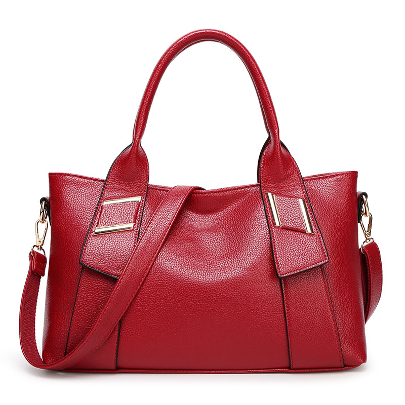 New Fashion Totes Pu Leather Bags Women Solid Zipper Shoulder Soft Clutch Black Leather Bag Big Versatile Crossbody Handbag
