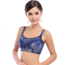 Solid push up Bra big large size lace bras plus size