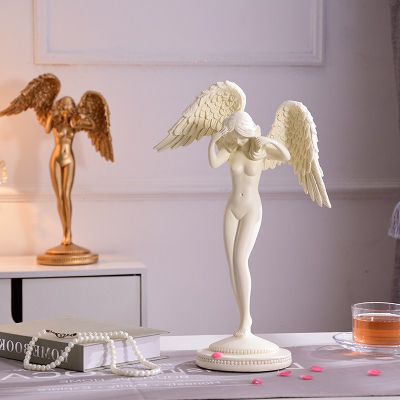 Beauty Angel Statue Goddess Body Art Sculpture Colophony Crafts Home Interior Design L3242Beauty Angel Statue Goddess Body Art Sculpture Colophony Crafts Home Interior Design L3242
