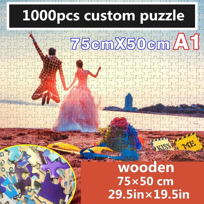 Dubbi custome wooden jigsa Puzzle 1000pcs 500pcs 300pcs personalized jigsaw educational toy puzzle in puzzles game jigsaw puzzle