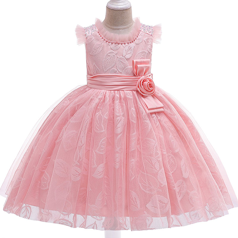 Hot pageant   dresses     flower     girl     dresses   embroidery mesh   girl     dresses   for weddings kids children's clothing baby costume L5121