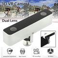 Бесплатная доставка! Мини VR 3D HD Камера с Двумя Объективами Видеокамеры Для Android Телефон Захватывающий Опыт