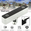 Free shipping!Mini VR 3D HD Camera Dual Lens Camcorder For Android Phone Immersive Experience