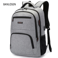 BC Brand Fashion Business Backpack For Men USB Charge Laptop Bag Backpacks 14 15 6 Inch