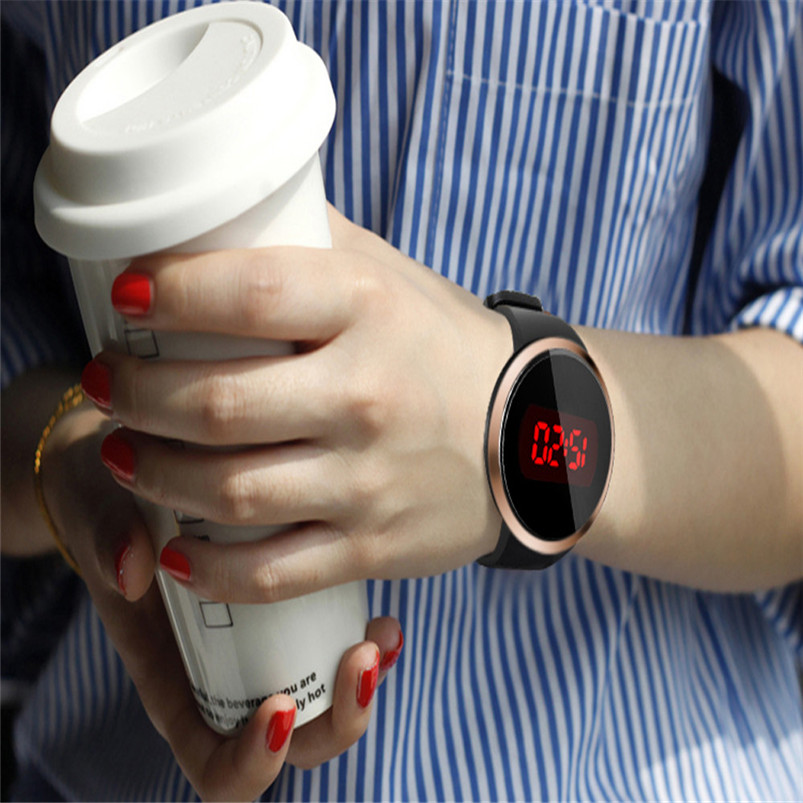 Fashion Waterproof Mens LED Touch Screen Day Date Silicone Wrist Watch Men Wholesale #2A ...