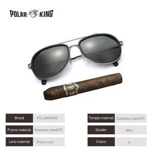 POLARKING العلامة التجارية البخار فاسق الاستقطاب الرجال النظارات الشمسية Gafas دي سول أزياء الرجال القيادة معدن نظارات شمسية الصيد السفر نظارات