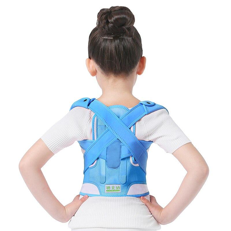 Children Kids Adjustable Magnetic Posture Corrector Adjustable  Back Shoulder Supporting back corset Brace For Unisex Adult adjustable sport magnetic keen protection pad brace black