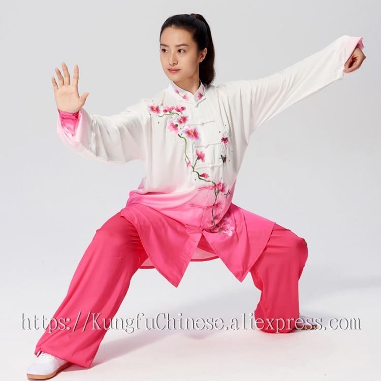 Chinese Tai chi costume taijiquan clothes Kungfu uniform Qigong kimono wushu outfit for men women boy