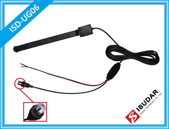 Car Analog TV antenna Auto Radio GPS Aerial with Amplifier Booster For DVB-T ISDB-T ATSC TV Box SMA Type Connector