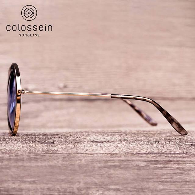 COLOSSEIN Classic Sunglasses Women Fashion Formal Vintage Sunglasses Personality Clamshell Glasses Metal Punk Sunglasses UV400 2