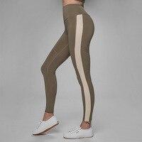 2018 Black Women White Striped Yoga Pants Running Tights Sport Leggings Push Up Training Pants Fitness Gym Leggins Workout Pants