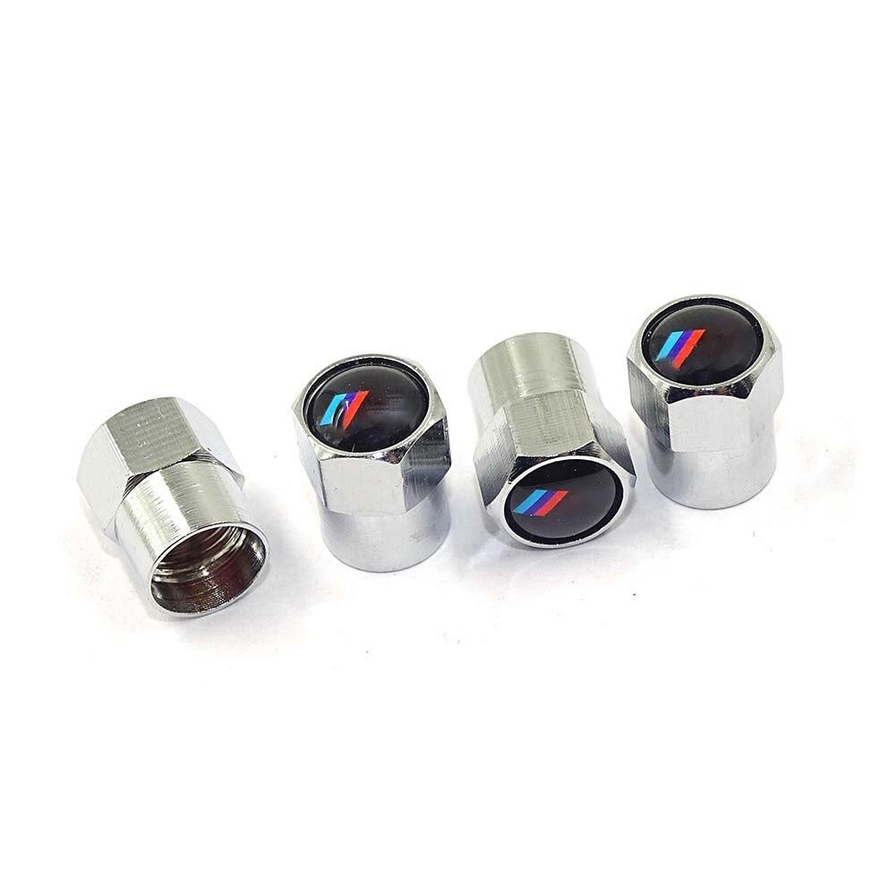4Pcs/Pack Theftproof Car Logo Wheel Tire Valves Tyre Stem Air Caps Airtight Cover for BMW M Series e30 e46 e60 e90 Car-Styling