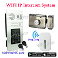 2016 P2P WIFI Wireless Doorphone Video Intercom System with Mute Electronic Lock and Wireless Door Chime