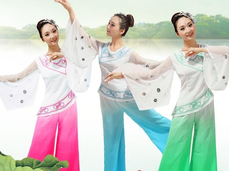 3XL femmes danseuse Costume Paillette dame danse robe Blouse + pantalon chinois Yangge scène vêtements FemaleGroup danseuse Costume 16